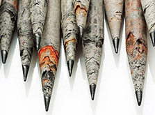 Recycled newspaper pencils, TreeSmart