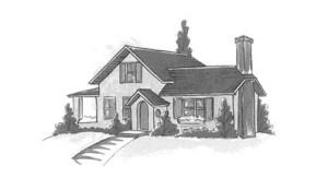 house in b-w