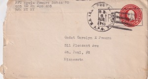 Uncle Lewey war letter